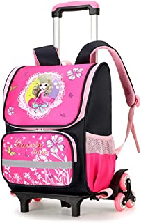 Children's Backpack Multifunctional Wear-Resistant Stair Wheel School Bag Safety Reflective Breathable Waterproof