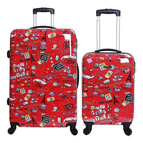 Karabar Dewberry juego de 2 maletas duras, Rojo