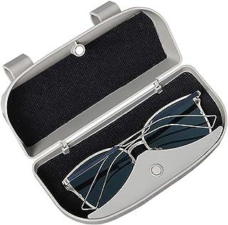 Garneck 1 stück Sonnenbrille Halter für Sonnenblende Clip Brillen Organizer Multifunktionale für Auto Auto Automobil (Grau)