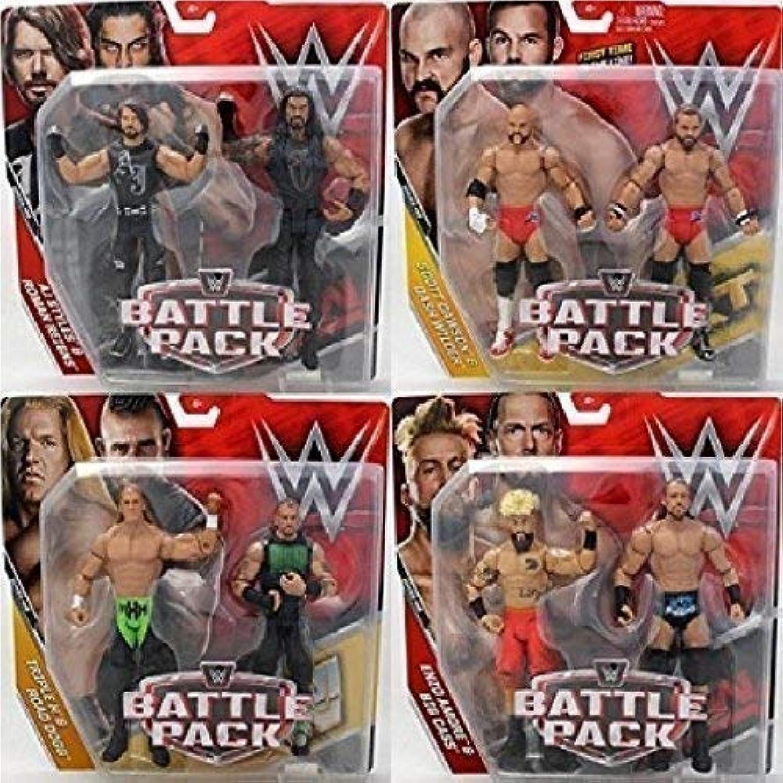 Wrestling WWE Kampf Pack  Serie 45 Aktion Figur - Komplette Serie Alle 4 inklusiv