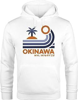 Neverless® Hoodie Herren Japan Okinawa Schriftzug Retro Pal