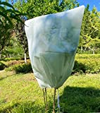 Leshi Store Plant Cover Freeze Protection, 31.4' W×39.3' H 1.8oz, Winter Frost Protection for Plants with Drawstring, Upgraded Thickness Frost Cover,Outdoor Reusable Plants Blankets for Shrub
