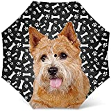 Ombrello con Stampa Cane Norwich Terrier - Ombrello da Golf pieghevole da viaggio antivento - I Migliori Regali per Mamma Cane
