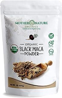 Madre Nature - Certified 100% USDA Organic Gelatinized Black Maca Powder - Fresh Harvest from Peru - Non-GMO - Vegan - Glu...