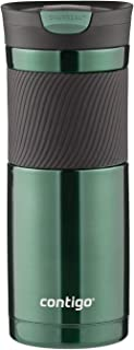 Contigo SnapSeal 真空保温不锈钢旅行水杯,20 盎司,Greyed Jade