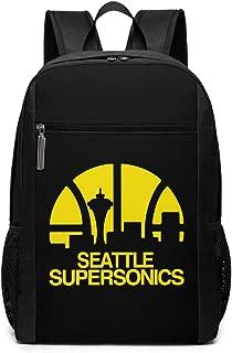 Seattle Supersonics Backpack Laptop Backpack School Bag Travel Backpack 17 Inch