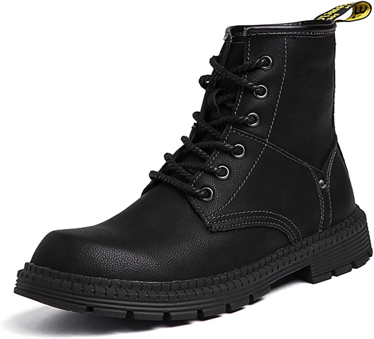 Male Martin Boots British Retro Male High To Help Large Size Leather shoes High Tube Fashion Casual Breathable