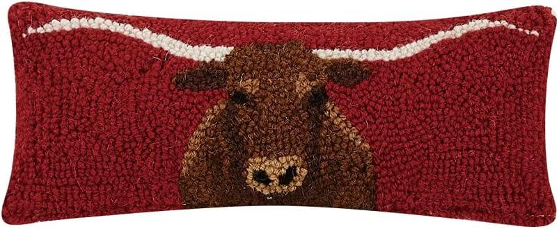 Peking Handicraft 30TG486C05OB 12 x 5 Longhorn Hook Popular brand Max 44% OFF in the world - in. Pillow