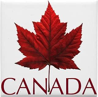 CafePress Canada Maple Leaf Souvenir Tile Coaster, Drink Coaster, Small Trivet