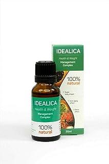 IDEALICA 100% Natural 20ml. Gotas Para Adelgazar Muy Rapido - Quemagrasas Potente Para Adelgazar - Antioxidante - Apto para veganos y vegetarianos - Sin gluten
