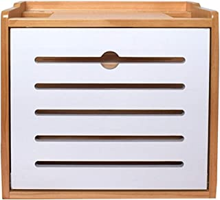 Caja de Almacenamiento de Cable, Estante de Pared de Madera para TV Caja Superior, Caja de Almacenamiento para enrutador W...