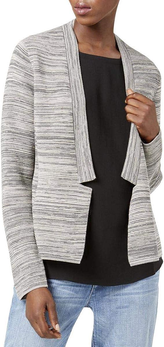Eileen Fisher Maple Oat Tencel/Organic Cotton Notch Collar Cardigan Size M/M MSRP $288