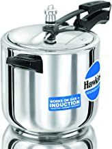 Hawkins Stainless Steel Induction Compatible Base Pressure Cooker, 6 Litres, Silver, B65
