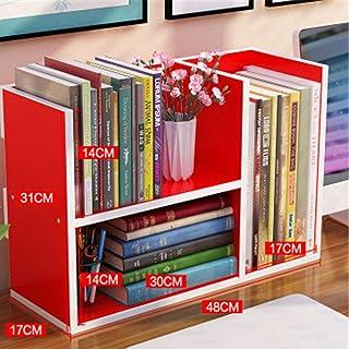 Escritorio estante for libros de la estantería Estudiante simple Tabla niños escritorio estante pequeño rack de almacenamiento en rack estantes Oficina Provincial Espacio Librería Multicolor Opcional