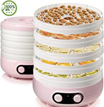 Food Dehydrator 5-layer Household Dried Fruit Machine Freely Adjustable Temperature For Fruit/vegetable/meat Dryer BPA Free Pink