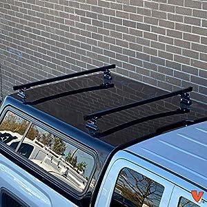 "Universal Pickup Topper M1000 Ladder rack w/ 60"" Bar STEEL Black"