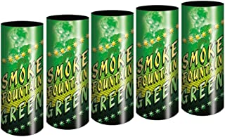 5 Stück h2i Bengalo Rauch Vulkan Fontäne Party Feuerwerk Rauchfarbe grün/Ganzjahresfeuerwerk Kat T1/F1