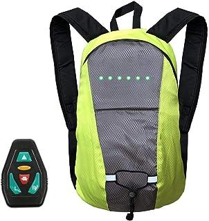 Mochila para ciclismo, Mochila para ciclismo, Mochila con luces LED intermitentes con control remoto, Mochila para montar con luz reflectante Bolsa de deporte al aire libre con capacidad de 15L