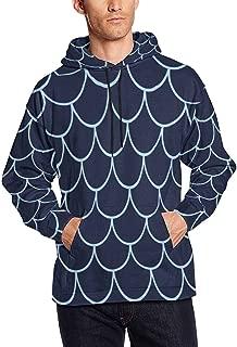 InterestPrint Men's Pullover Hoodies Sweatshirt