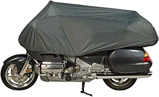 Dowco Guardian 26014-00 Travel Ready Water Resistant Premium Motorcycle Half Cover: Grey, Cruiser and Touring
