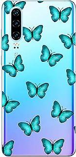 Oihxse Silicone Transparente Case avec Motif Papillon Compatible pour Huawei P Smart/Enjoy 7S/Honor 9 Lite Coque Souple TP...