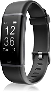 LETSCOM Health and Fitness Tracker with Heart Rate Monitor, Smart Bracelet with Step Counter, Calorie Counter and Call & S...