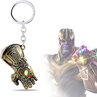 f8d3f955 KOBWA Personalized Novelty Keychain - Infinity War Gauntlet Avengers  Keyring Metal Pendant Gift,Multi Color