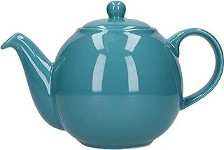 London Pottery Globe Teapot, Aqua, 4 Cup, Closed Box