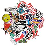Loveliome 100 Pcs Not Repeat Laptop Stickers,Graffiti Patches Cartoon Hip Hop Logo Sticker Paper for Water Bottles, Waterproof Motorcycle Bicycle Skateboard Luggage Decal, Style 1