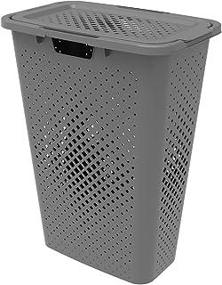 Sundis 358002 Coffre Linge Pixel Slim-Gris 40L, Plastique, L.57 x l.28 x h.44 cm