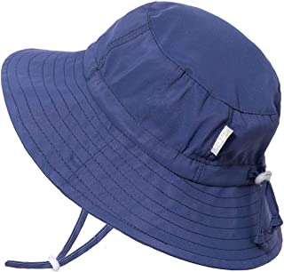JAN & JUL Kids Aqua-Dry Sun-Hat, 50+UPF, Adjustable Straps, for Baby and Toddler, Girl or Boy