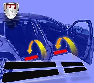 PR Folia Einstiegsleisten für C3 Aircross (ab Bj. 2017) passend, Steinschlagschutzfolie, Schutzfolie und Autofolie für Türeinstiege, Lackschutzfolie in Schwarz