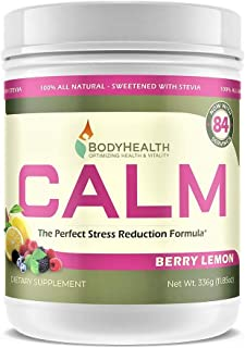 BodyHealth Calm (Berry Lemon 12oz), Relaxation Supplement That Helps Restore Healthy Magnesium Levels, Provides Calcium-Ma...