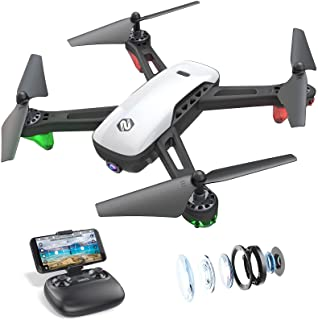 SANROCK U52 Drones for Kids and Adults with 720P HD Camera, WiFi Live Video FPV Drone Toy, RC Quadcopter for Beginners, Gr...