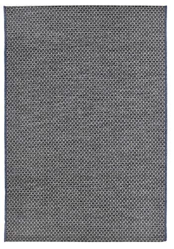 andiamo Alfombra Tejida por Clyde sin Pelo. Gris y Beige, B086F471GX, 120 x 170 cm