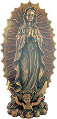 dtc Our Lady of Guadalupe 9 Inch Bronzed Resin Statue for Home or Church Sanctuary