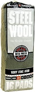 Steel Wool, 16 pad, Very Fine Grade #00, Rhodes American, Metal Polishing
