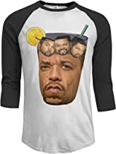 MarshallD Men's Got Tea Ice Cube 3/4 Sleeve Raglan Baseball Tshirt Black
