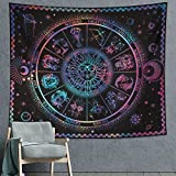 DESIHOM 12 Constellation Tapestry Astrology Tapestry Zodiac Tapestries Trippy Tapestry Psychedelic Sun Tapestry Wall Tapestry for Bedroom Living Room Dorm Decor 59x51 Inch