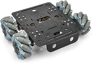 OSOYOO 4WD Omni Wheel Robotic Mecanum Wheel Robot Car Platform Chassis with DC 12V Speed Encoder Motor for Arduino/Raspberry Pi