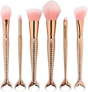HMR Makeup Brush Set,6Pcs Premium Synthetic Professional Makeup Brushes Foundation Angled Coutour brush Concealer Shader Eyeshadow Face Brushes