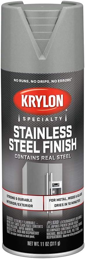 Krylon K02400007 Stainless Steel Finish Spray Paint Stain Steel 11 Ounce Amazon Com