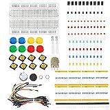 BouBou KS Starter Learning Set DIY Kit Electrónico para Resistencia Arduino/Led/Condensador/Cables De Puente/Placa De Prueba/Potenciómetro/Zumbador/Interruptor/Cabezal De 40 Pines