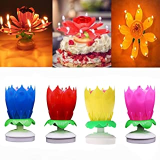 WEIHONG Party Supplies, Birthday Cake Topper Candles (4 Pack)