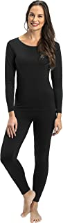 Thermal Underwear for Women Fleece Lined Thermals Women's Base Layer Long John Set