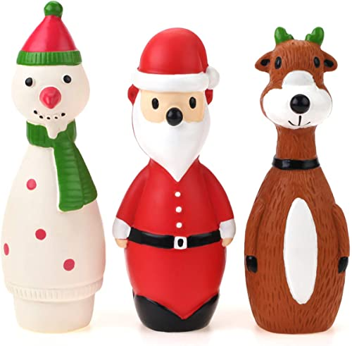 high quality Chiwava 3 Pack Small Christmas Dog Toys for online sale Interactive Dogs Latex Squeaky 2021 Santa Toy sale