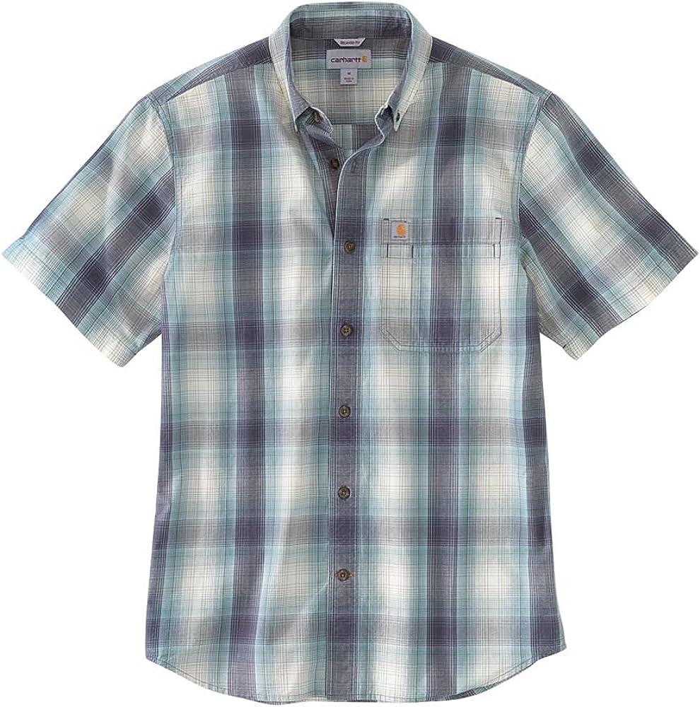 Carhartt Men's 104174 Relaxed Fit Lightweight Plaid Shirt