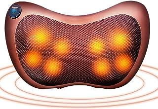 ZHHID Cojín de masaje cervical con calor, 8 cabezales de masaje, alivio del dolor muscular, para la oficina en casa y el coche, regalo para hombre y mujer