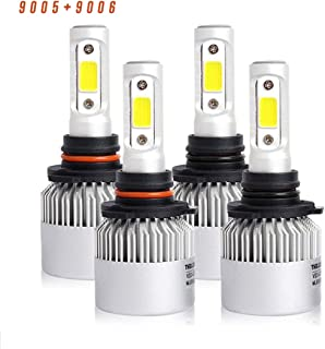 9005/HB3 High Beam 9006/HB4 Low Beam Combo 8000 Lumens Led Headlight Conversion Kit, Low Beam Headlamp, Fog Driving Light, Halogen Head Light Replacement, 6500K Xenon White, 1 Year Warranty