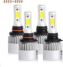 9005/HB3 High Beam 9006/HB4 Low Beam Combo 8000 Lumens Led Headlight Conversion Kit, Low Beam Headlamp, Fog Driving Light, Halogen Head Light Replacement, 6500K Xenon White, 1 Year Warranty